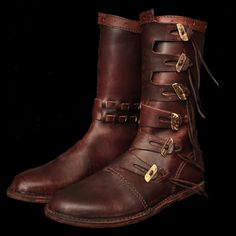 Load image into Gallery viewer, Viking Jarl Boots - Footwear Viking Armor, Viking Garb, Viking Costume, Larp Armor, Viking Shoes, Viking Clothing, Viking Footwear, Bike Boots, Riding Boots