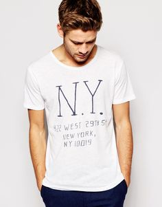 Selected T-Shirt With NY Print