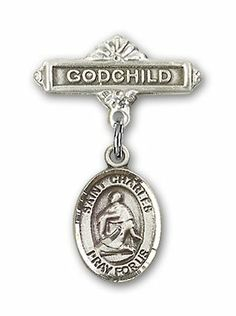 Sterling Silver Baby Badge with St. Charles Borromeo Charm and Godchild Badge Pin Bliss,http://www.amazon.com/dp/B005EHUZHC/ref=cm_sw_r_pi_dp_u-6Nsb0MB8JET0B2