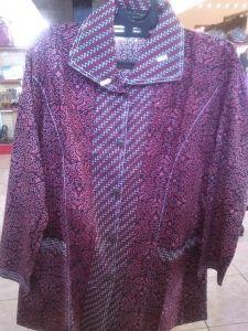 Jual Batik Wanita Elegan Merah | Toko Online Batik Kendal | Jual Batik Berkualitas | Toko Batik