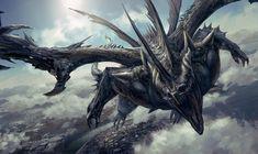 Mythological Creatures, Fantasy Creatures, Mythical Creatures, Dragon 2, Black Dragon, Guerrero Dragon, Dark Fantasy, Fantasy Art, Legendary Dragons