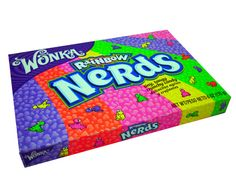 Nerds are our most popular Wonka sweet, they are tiny, tangy, crunchy candy with intriguing and tasty flavours. These Nerds are the huge Rainbow box so you can sample all of the flavours. Yummy Drinks, Yummy Food, Minnie Mouse Toys, Nerds Candy, Orange Book, Toy Cars For Kids, Candy Brands, Best Lip Balm, Candy Shop