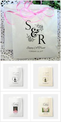 Favor Cookie, Dounut, Candy Popcorn Treat Bags Favor Bags, Treat Bags, Country Wedding Favors, Candy Popcorn, Invite Your Friends, Place Card Holders, Treats, Invitations, Messages
