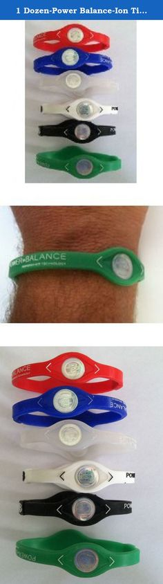 1 Dozen-Power Balance-Ion Titanium Baseball/Sports Power Bands-CLOSEOUT PRICE. 1 DOZEN POWER BALANCE BRACELETS IN EVERY ORDER. ASSORTED COLORS. Medium and Large Only assorted in each dozen.. High quality medical grade silicone May Improve power, balance, flexibility, recovery time, and stamina 40% stretch factor so it goes on easily Assorted colors in each dozen Contains 2 silver holograms containing Germanium and Tourmaline, both sources of negative ions.
