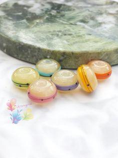 Lampwork Beads Rainbow Stripe Pearl Urban by GlitteringprizeGlass for jewellery…