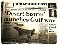 Desert Storm launches Gulf War