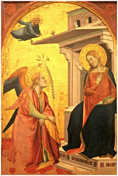 Taddeo Gaddi, Annunciazione, 1340-1345 circa  Taddeo Gaddi (Firenze 1300 circa – 1366)   #TuscanyAgriturismoGiratola