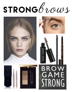 """""""Untitled #116"""" by liachirinos ❤ liked on Polyvore featuring beauty, Bobbi Brown Cosmetics, Yves Saint Laurent, Tweezerman, Anastasia Beverly Hills, MAC Cosmetics, BeautyTrend, strongbrows and boldeyebrows"""