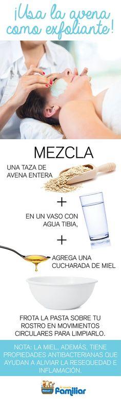 #Mascarilla de #avena para #exfoliar tu #piel