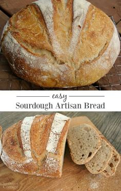 A truly easy and delicious sourdough artisan bread with a crisp crust and tender interior - this is the bread anyone can make! #bread #sourdough #sourdoughrecipe #artisanbread #anoregoncottage