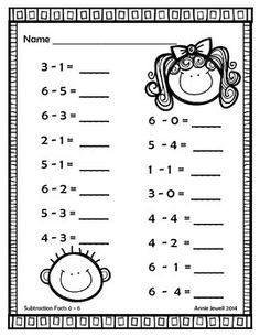 Addition and Subtraction Worksheets BUNDLE for Kindergarten and Grade Counting Worksheets For Kindergarten, First Grade Math Worksheets, 1st Grade Math, Addition And Subtraction Worksheets, Math Subtraction, Grande Section, Numbers Preschool, Math For Kids, Math Lessons