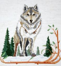 Wolf - Cross Stitch
