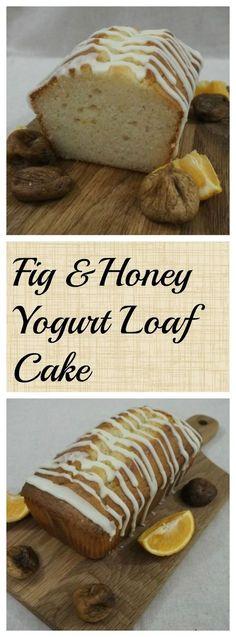 Fig & Honey Yogurt Loaf Cake - easily adaptable to your favourite flavour yogurt!
