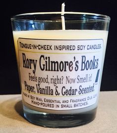 gilmore girls rory's books candle