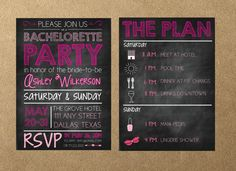 Bachelorette Party Invitation Printable File by AestheticJourneys, $15.00