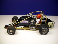 Just freshly made 1/24 scale slot car S.C.O.R.E. sprint car, Jerry Coons Jr. Phillips Motorsport #71P, Tornado Chassis Co with the help of Scalesprint.com decals (thanks Joe).