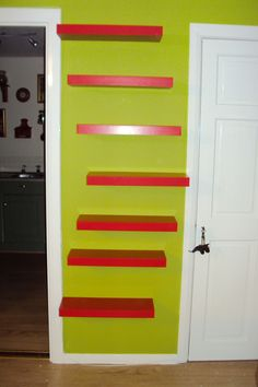 IKEA hack: Lack tables to floating shelves part 4