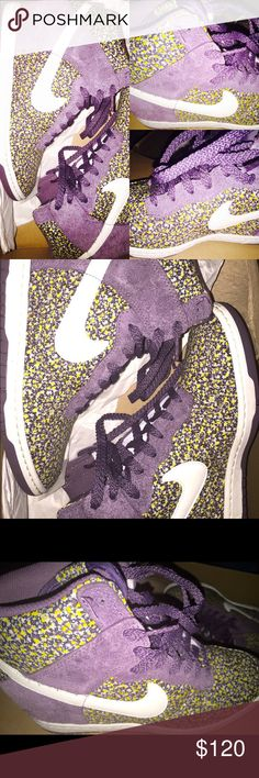 Nike WMNS DUNK SKY HI LIB Dark Plum/Sail-Sunlight purchased from Nordstrom Nike Shoes