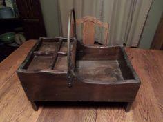 Antique Primitive Wood Farrier Blacksmith Tool Nail Caddy Box   eBay