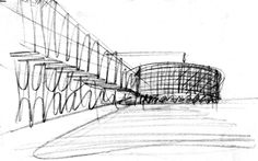 Mario Botta Architecture Sketch