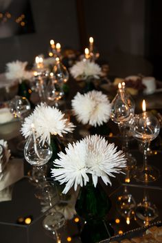 Fresh Floral, Candlelight, Mirror by Colin Cowie for holiday tablescapes © 2012 Majid Inc.
