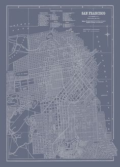San francisco neighborhood map san francisco rocks pinterest blueprint of san fran malvernweather Images