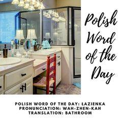 #Łazienka #bathroom #PWOTD #PolishWordoftheDay #Poland #Polish  #Polska #LearnPolish Learn Polish, Polish Words, Polish Language, Foreign Language, Word Of The Day, Languages, Poland, Teaching, Education