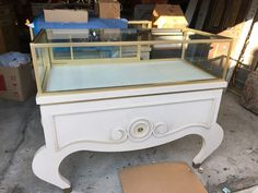 4' or 5' Vintage Art Deco Jewelry Showcase Display Cabinets - Halls Plaza KC #unbranded