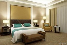 The Largest Hotel in the World Will Open in Mecca in 2017 Modern Bedroom Furniture, Modern Bedroom Design, Contemporary Bedroom, New Furniture, Most Luxurious Hotels, Luxurious Bedrooms, Luxury Bedrooms, Modern Bedrooms, Fancy Bedroom