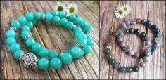Suze likes, loves, finds and dreams: Australia Days: Amazonite & Agate Gemstone Bracele...