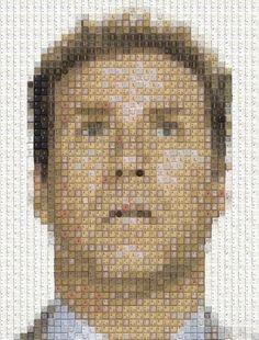 Celebrity Portraits Made of Keyboard Keys