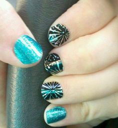 Fireworks!! Nail art easy with Jamberry