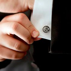 Gatsby 1920s Art Deco Monogram Cuff links - Custom Personalized Cufflinks Pair with 2 or 3 Vintage Initials for Men
