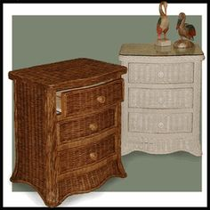 Roma 3 Drawer Wicker Dresser