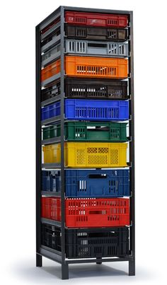 Mark van der Gronden's Storage Furniture from Repurposed Industrial Crates