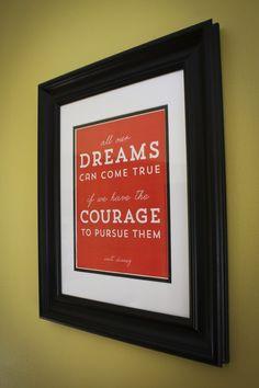 Free Printable Walt Disney Quote