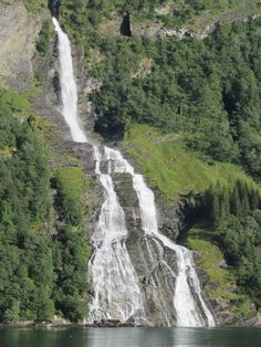 Geiranger, Norway Fjord Waterfall...I was there the summer of 2011!  It was absolutely gorgeous!