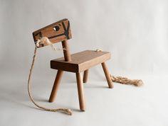 Pony Kids Wood Stool / Child's Horsey Stool