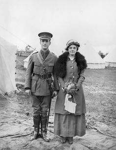 April 1915, the Bagot Wedding. The groom, Acting Sergeant John Frederick Bagot married his bride Eileen Dubois Ive in April of 1915.  During the Great War, he would rise to the rank of Captain in November of 1917. He returned to Australia, and his wife, in February 1919.