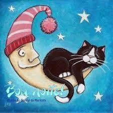 Resultado de imagem para boa noite gatinhos paz em teu coração