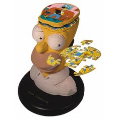 Homer Sculpture Puzzle - 150 stacked flat puzzles form this bust of America's favorite slacker