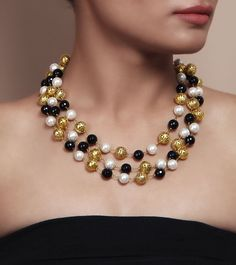 Pearl and Stones Embellished Necklace by Indiatrend Shop now on www.indianroots.com