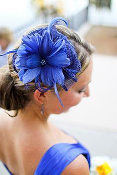 blue hair piece