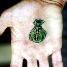 Money Bag Tattoo