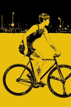ffffixas,fixed gear bikes illustrations,... | art for adults