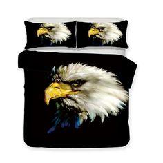 Animal World Flower Eagle 3d Print Bedding Set Oversized Design Bed Cover 3d Bedding Sets, Linen Bedding, Bed Linens, Unique Bedding, Comforter, Bed Covers, Duvet Cover Sets, Pillow Covers, Flora Pattern
