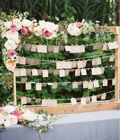 Etiquetas para bodas. Seatting plan