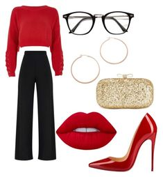 """""""#78"""" by daniela-paulica on Polyvore featuring River Island, Christian Louboutin, Lime Crime, INC International Concepts and Jennifer Zeuner"""