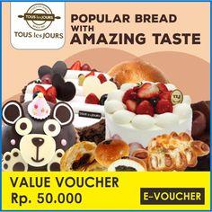 [47,000](▼6%)☆Tous Les Jours☆Rp.50000 Value Mobile-Voucher_berlaku seluruh cabang Tous les Jours di Indonesia