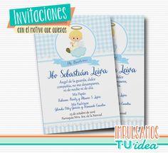 Tarjetita bautismo nene - Estampita bautismo para imprimir